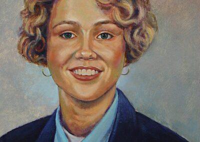 Portret van een blonde vrouw