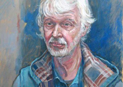 Portret van een man met wit haar