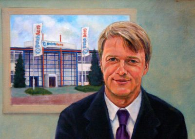 Portret van man voor een foto