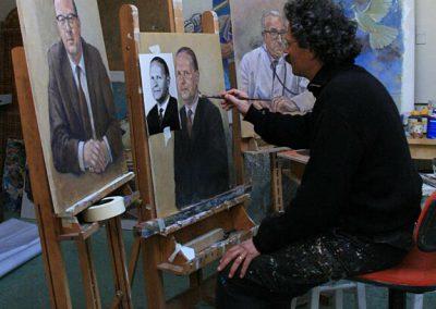Proces van portretschilderen