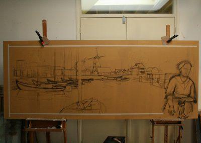 Voorbereiding voor schilderij