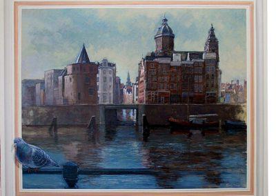 amsterdam schilderij gracht